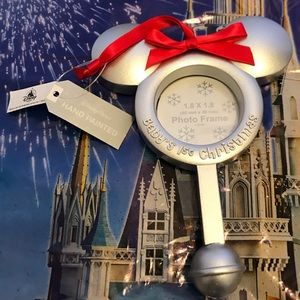 Disney parks baby's first Christmas ornament frame